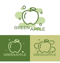 Green apple - logo vector