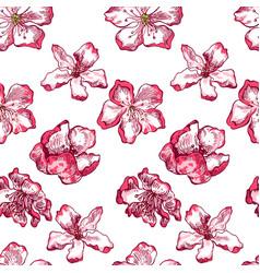 apple tree sketch pattern 1 vector image