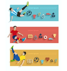 Flat design stylish concept with icons of soccer vector image