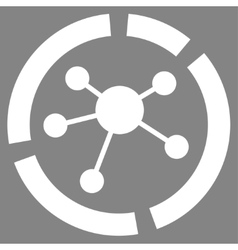 Connections diagram icon from business bicolor set vector