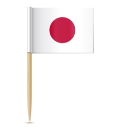 Japanese flag toothpick vector