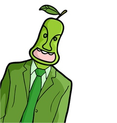 Pear man vector