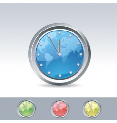 World clock vector