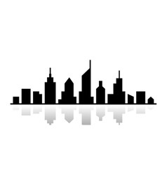 Black outline cityscape design vector