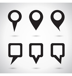 Map indicator elements vector