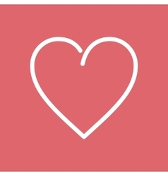 Heart flat line icon vector