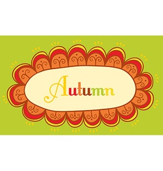 Abstract frame for your text autumnal theme header vector