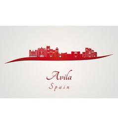 Avila skyline in red vector image vector image