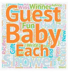 Baby shower games can be fun and inexpensive text vector