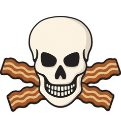 bacon skull vector image