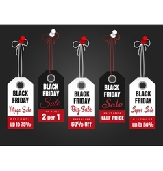 Black friday sale tags vector image vector image