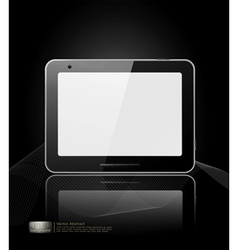 black tablet pad vector image