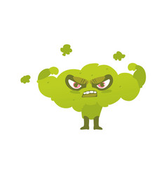 Broccoli hero superhero character guard vector