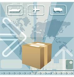 Cargo delivery vector image vector image