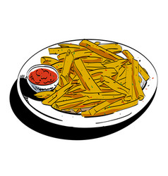 Cartoon image of french fries vector