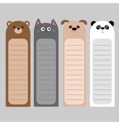 Cartoon kawaii baby bear cat dog panda Animal head vector image vector image