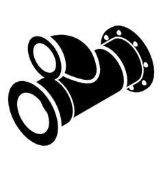 Cellar pipe icon simple black style vector