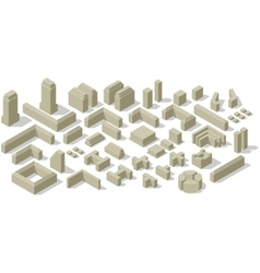 City plan set vector