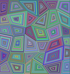 Colorful concentric rectangle mosaic background vector image vector image