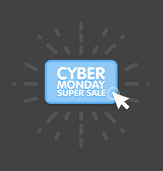 Cyber monday online shopping and marketing concept vector