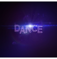 Dance 3D Neon Sign vector image