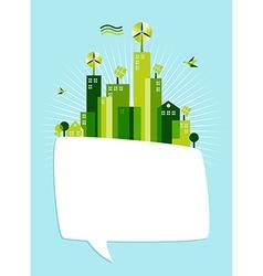 Eco green social media bubble vector image
