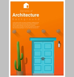 Elements of architecture front door background 10 vector image
