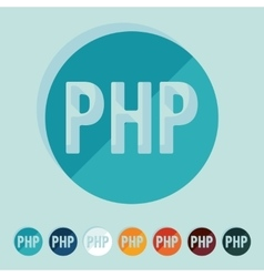 Flat design php vector