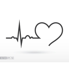 Heart beat cardiogram cardiac cycle medical icon vector