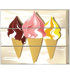 Ice cream board vector image
