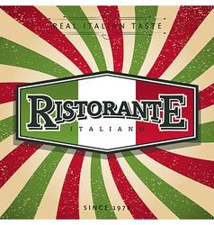 Italian restaurant vector