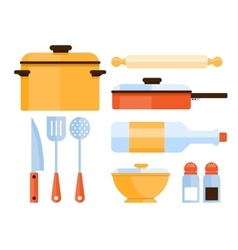Kitchen Utensils Collection vector image vector image