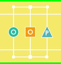 Oop letters vector