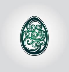 Openwork easter egg art easter egg spiral design vector