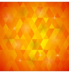 Orange geometric retro mosaic pattern vector