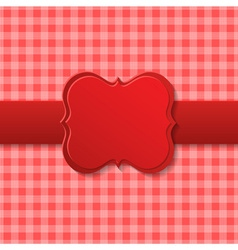 Red holiday paper design vector image