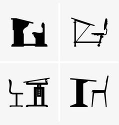 school desks vector image vector image