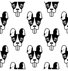 Seamless pattern with head of the french bulldog vector image