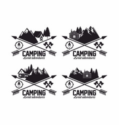 set of logos for the camp vector image