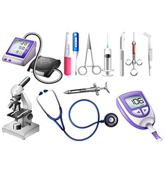 Set of medical equipment vector image
