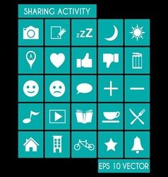 Social Share Activity vector image vector image