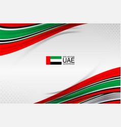 Uae flag design vector