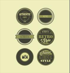 Vintage labels black and green set 3 vector