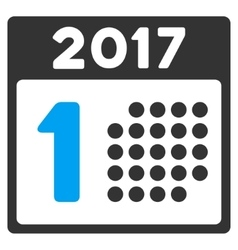 First 2017 Day Flat Icon vector image