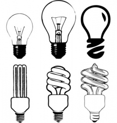 Light bulb illustration vector