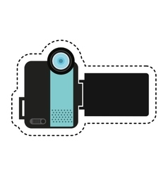 Handy cam device isolated icon vector