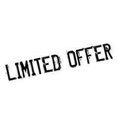 limited offer rubber stamp vector image