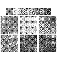 Set Seamless Black And White Lines Patterns vector image