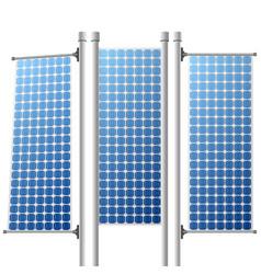 Solar panels renewable power sources set vector