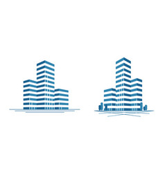 Modern city skyscraper logo construction vector